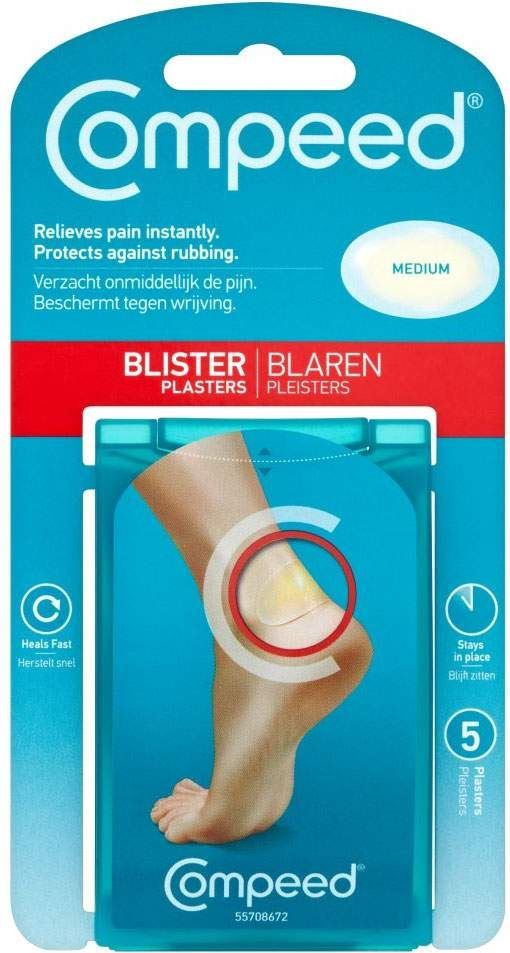 Compeed Blister Plasters With Unique Hydrocure System